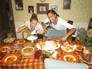 My best friend, Ej, and I love to eat!